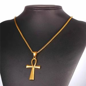 Egyptian Ankh Crucifix Necklaces Pendants Stainles